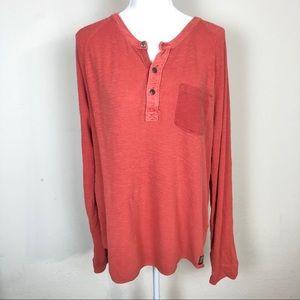 Lucky Brand Men's Long Sleeve Henley Shirt